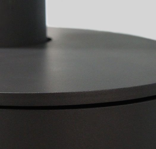 solveig-optima-acier-noir-zoom-matiere